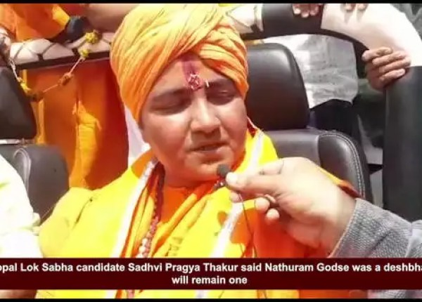 nathuram godse was deshbhaktand remains one says sadhvi pragya