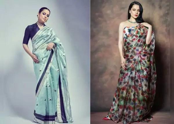 Kangana Ranaut in saree look