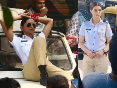 Kriti Sanon: When Kriti Sanon looked like Deepika, she was seen in a traffic police uniform – actress kriti sanon look for an ad shoot is just like deepika padukone