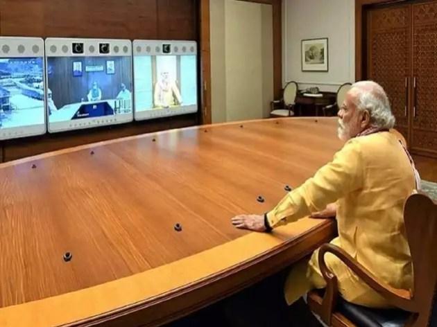 समीक्षा बैठक में पीएम नरेंद्र मोदी।