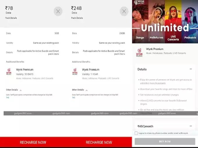 Airtel 78 and 248 rupees data add on pack Benefits