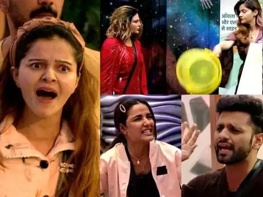 bigg boss 14 devoleena bhattacharjee arshi khan to rubina and vikas gupta ugliest fights that shocked everyone