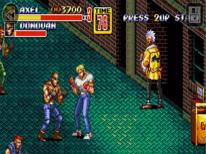 Sonic Hedgehog 2 and Streets of Rage 3 on JioGames 2