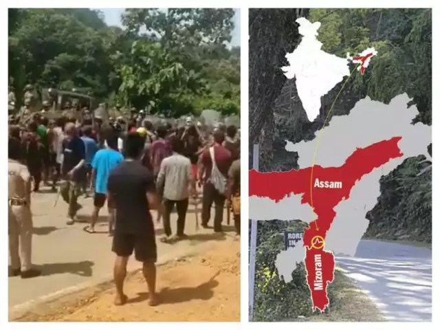 Border dispute erupts in Assam and Mizoram