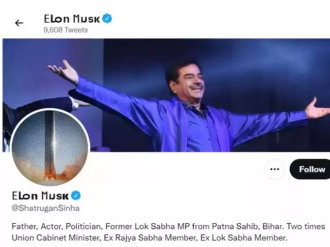 Shatrughan's name has been changed with the profile picture.