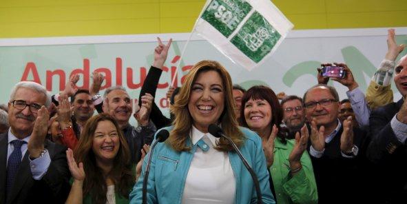 Susana Diaz, présidente socialiste de l'Andalousie, va conserver son poste