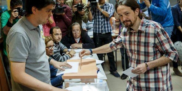 Pablo Iglesias, leader de Podemos, durant les élections locales