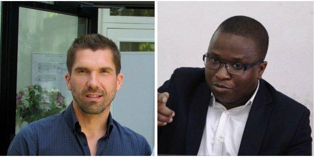 A droite, Youssouf Ballo, fondateur de Legafrik et à gauche Pierre Aïdan, co-fondateur de Legaltech.