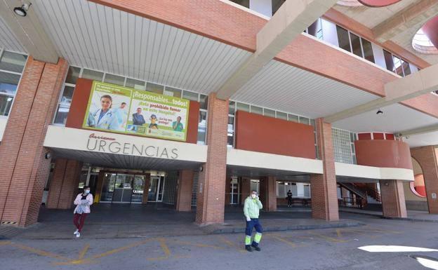 Entrance to the Emergency Department of the Virgen de la Arrixaca hospital.