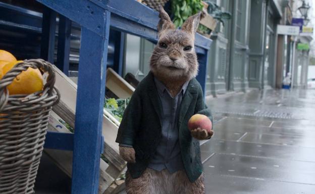 A still from 'Peter Rabbit 2: On the Run'.