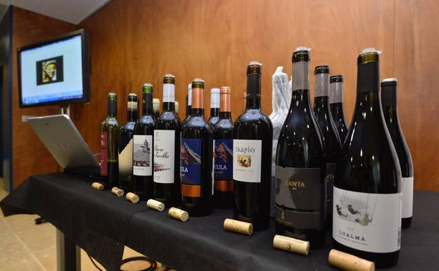 Exhibition of wines in a file image.
