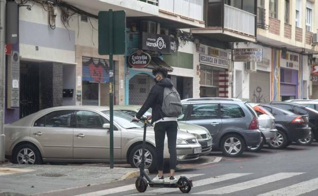 A rider on a scooter, in a file image.
