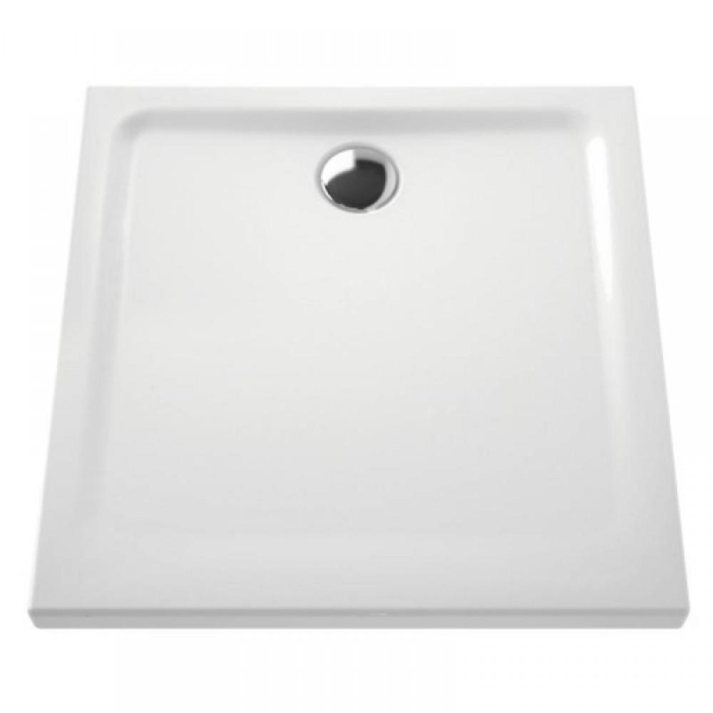 receveur a poser extra plat en ceramique 80x80 cm