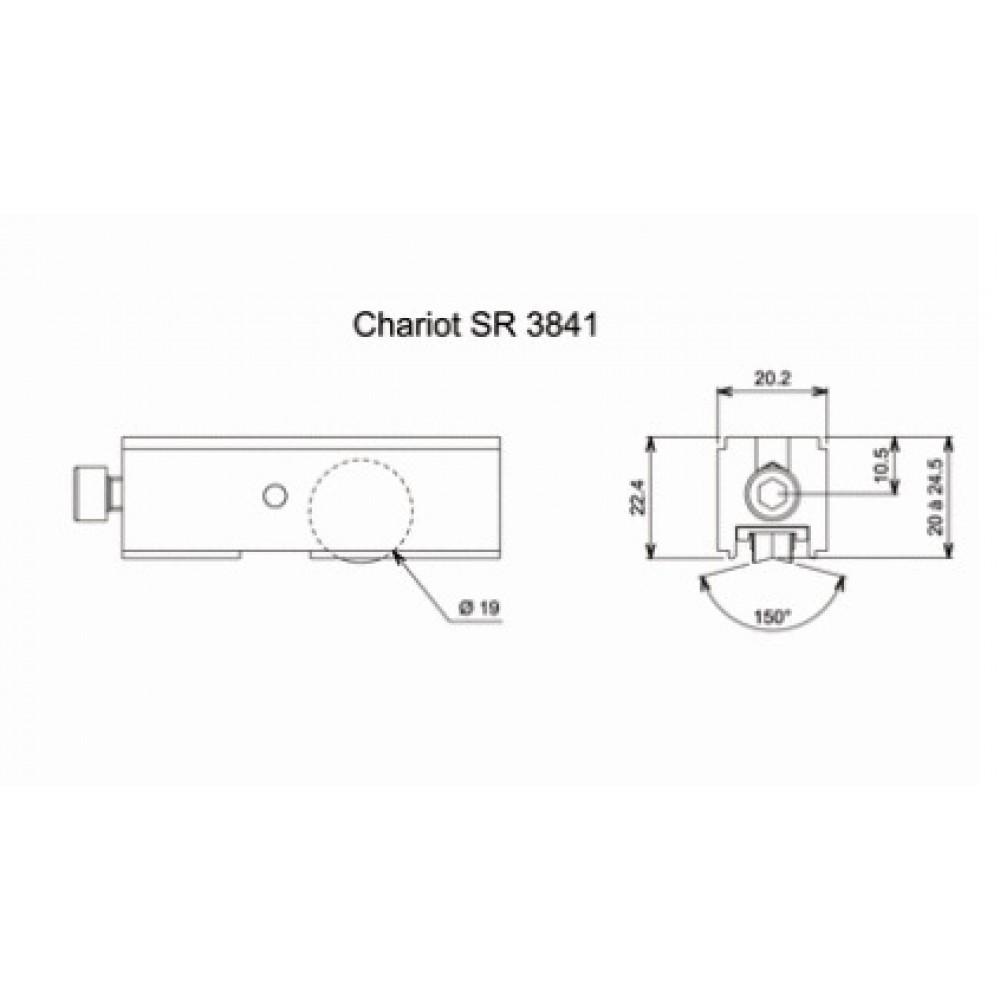 Chariot Simple Reglable Pour Coulissant Aluminium Type 3841 La Croisee Ds Bricozor