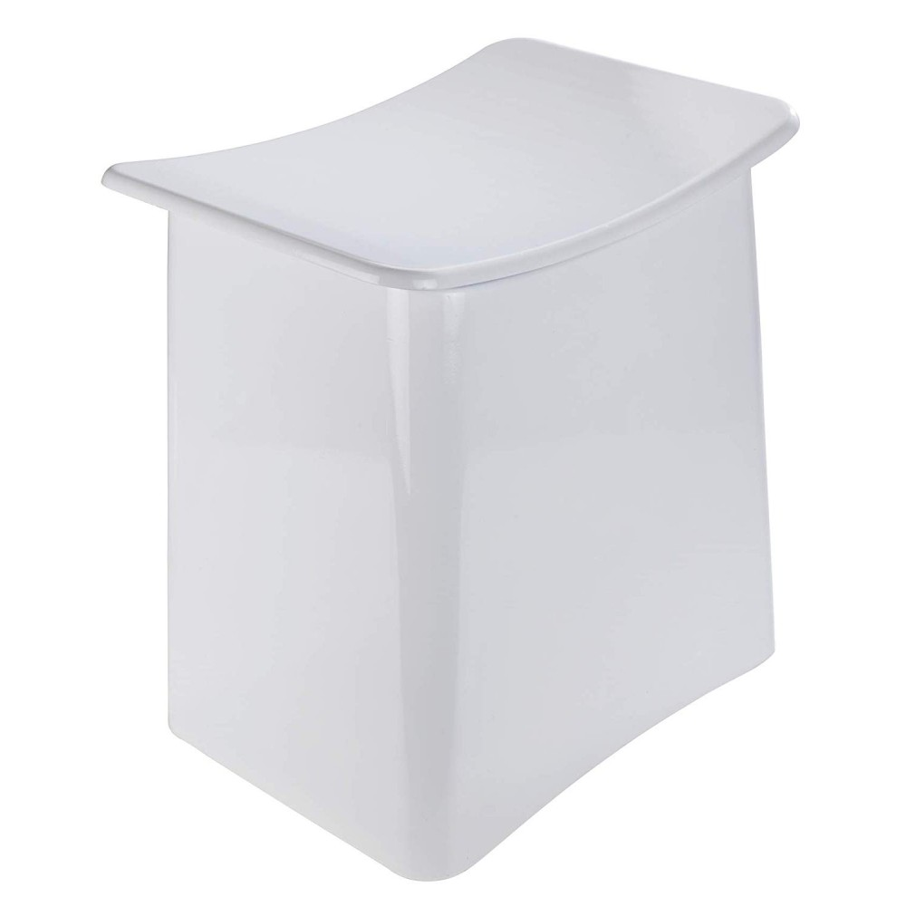 Tabouret Panier A Linge Design Pour Salle De Bain Abs Blanc Wenko Bricozor