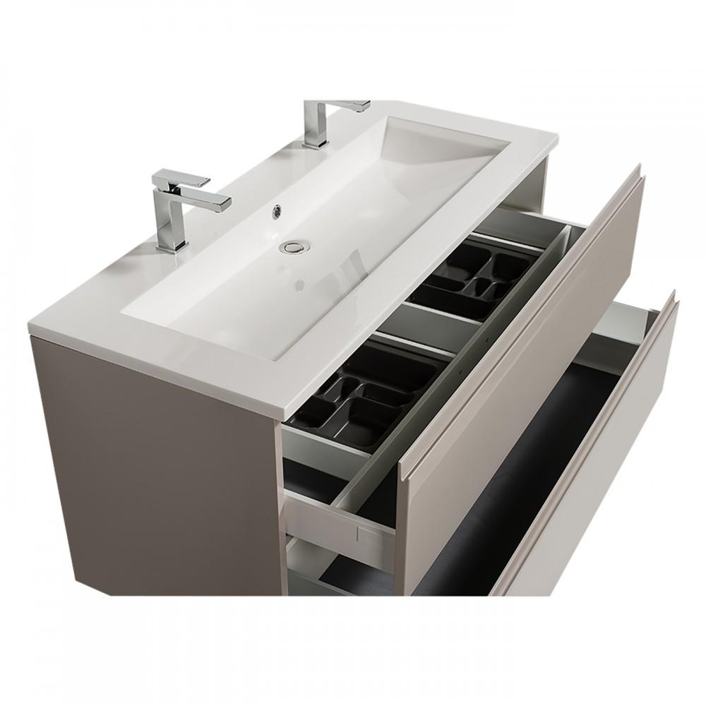 Meuble Double Vasque Reposant Adele 120 Cm 2 Finitions Bathdesign Bricozor