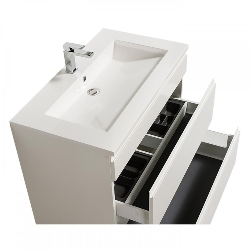 Meuble De Salle De Bains Reposant Adele 90 Cm 2 Finitions Bathdesign Bricozor