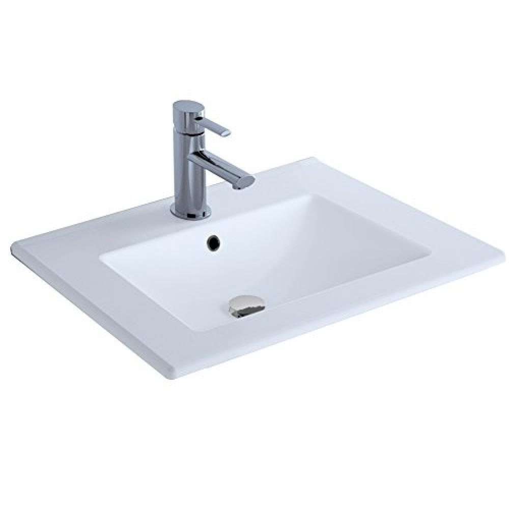 plan vasque en ceramique fine blanche studio kit comfort