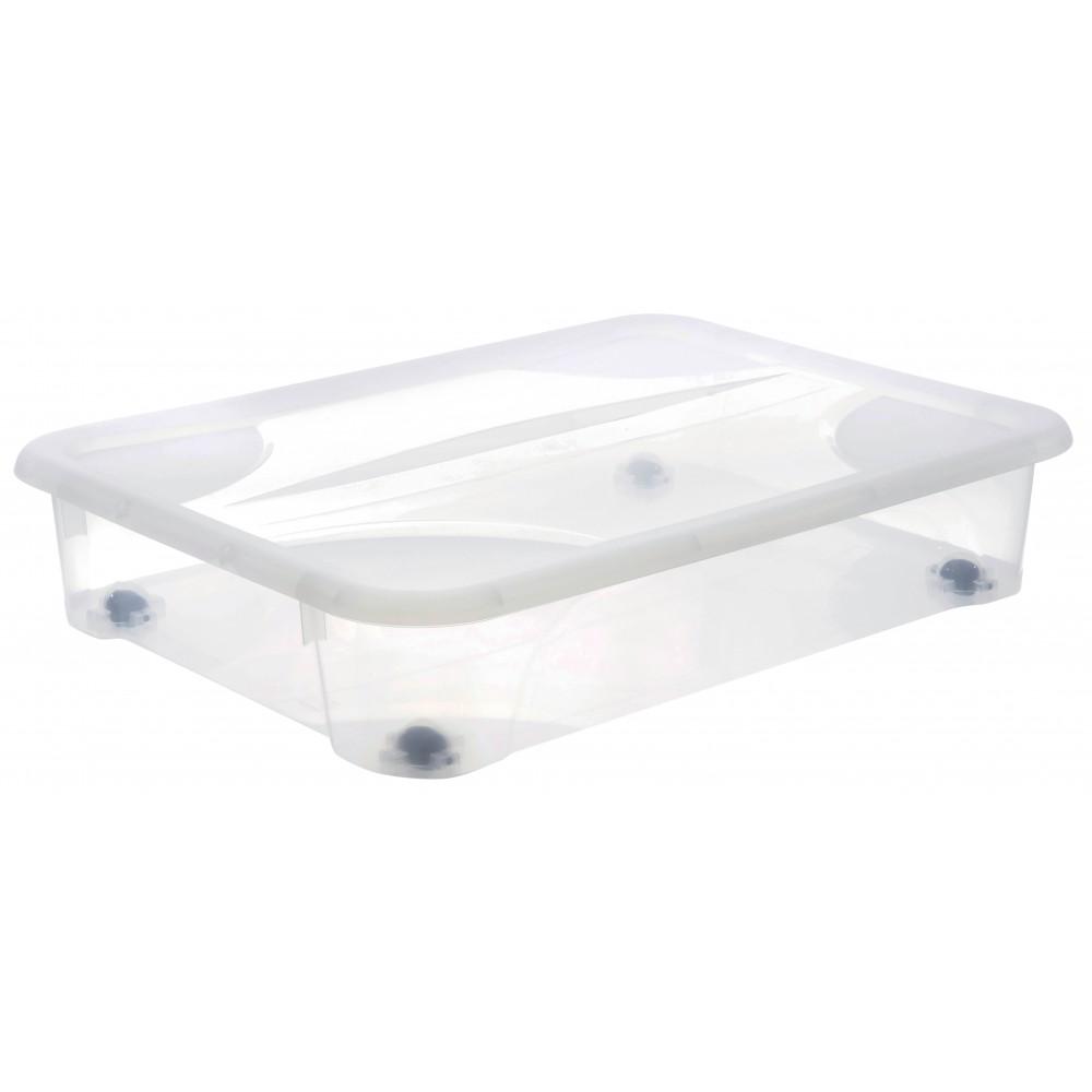 boite rangement sous lit 4 roues eda plastiques sur bricozor