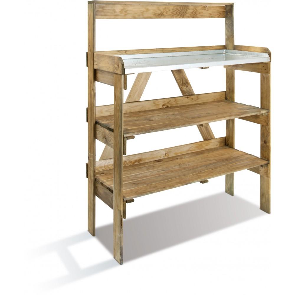 table de preparation pour le jardinage longueur 125 cm evolution jardipolys sur bricozor