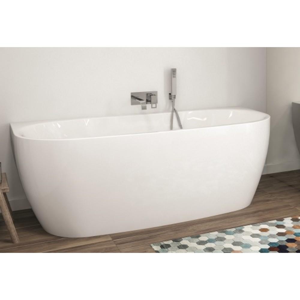 baignoire acrylique milieu de mur avec tablier 180x80cm greta monoline