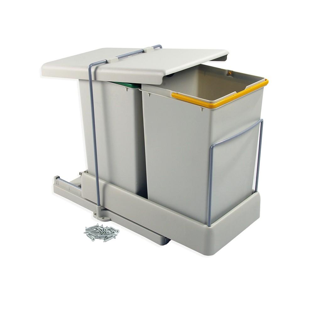 poubelles de tri selectif 2 bacs 14 litres emuca sur bricozor