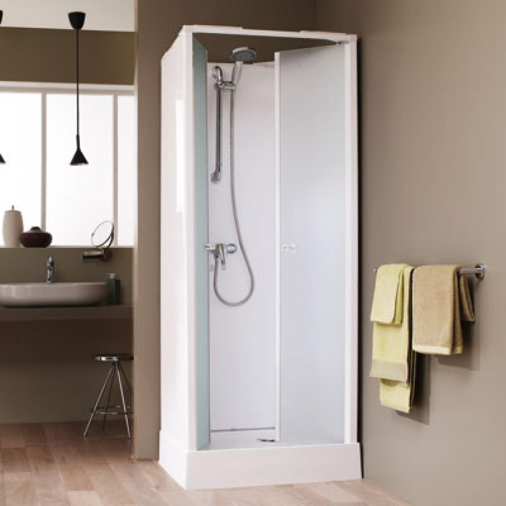 cabine de douche surf 4 70x70 cm acces de face portes battantes leda