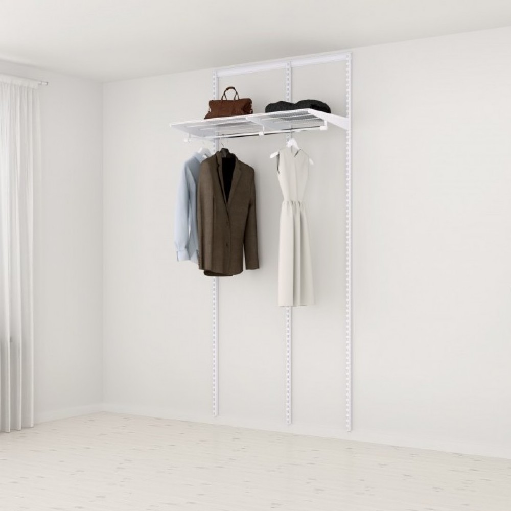 kit dressing basique l105xp40 cm blanc elfa sur bricozor