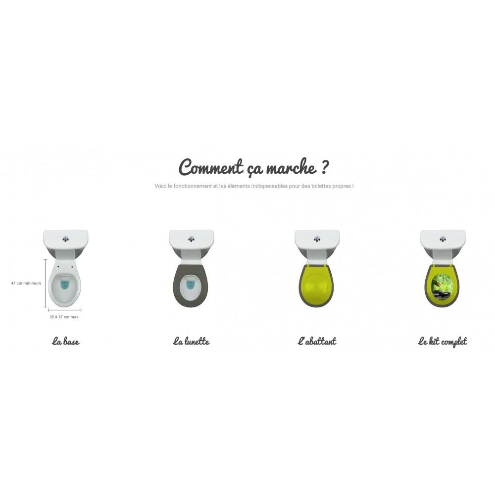 Lunette Wc Clipsable 100 Hygienique Blanc Papado Bricozor