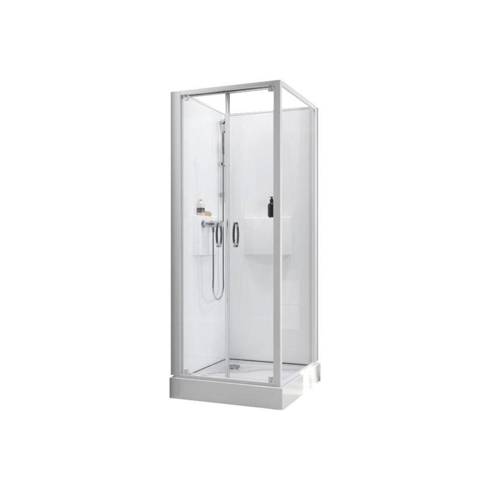 cabine de douche izibox 2 porte battante 70x70 cm