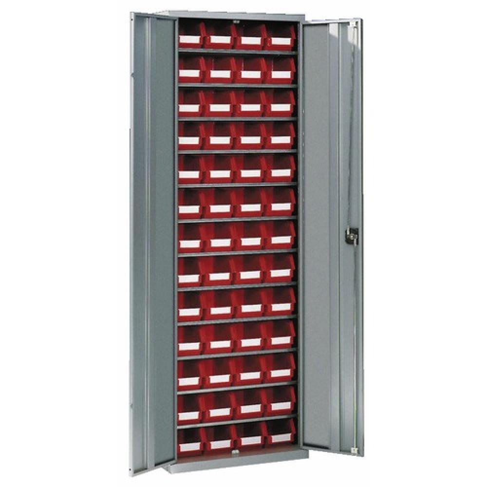 armoire d atelier metallique 12 etageres 52 bacs schaefer