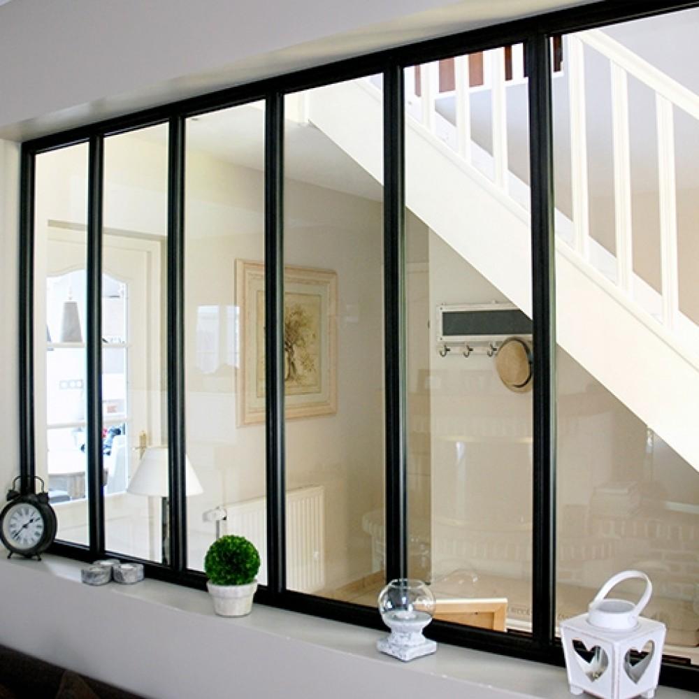 kit verriere interieure avec vitrage 6 panneaux 108 x 183 2 cm