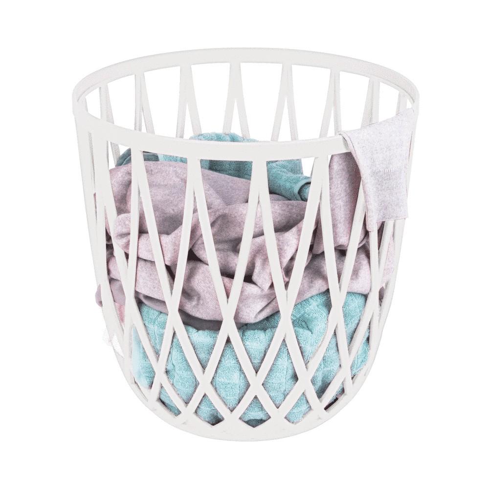 tabouret panier a linge design pour salle de bain omio
