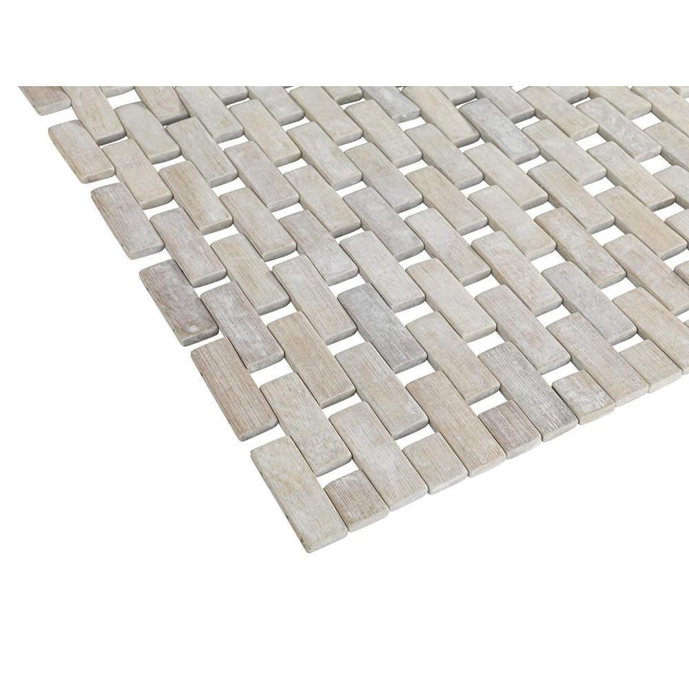 tapis de bain antiderapant bambou 50 x 80 cm