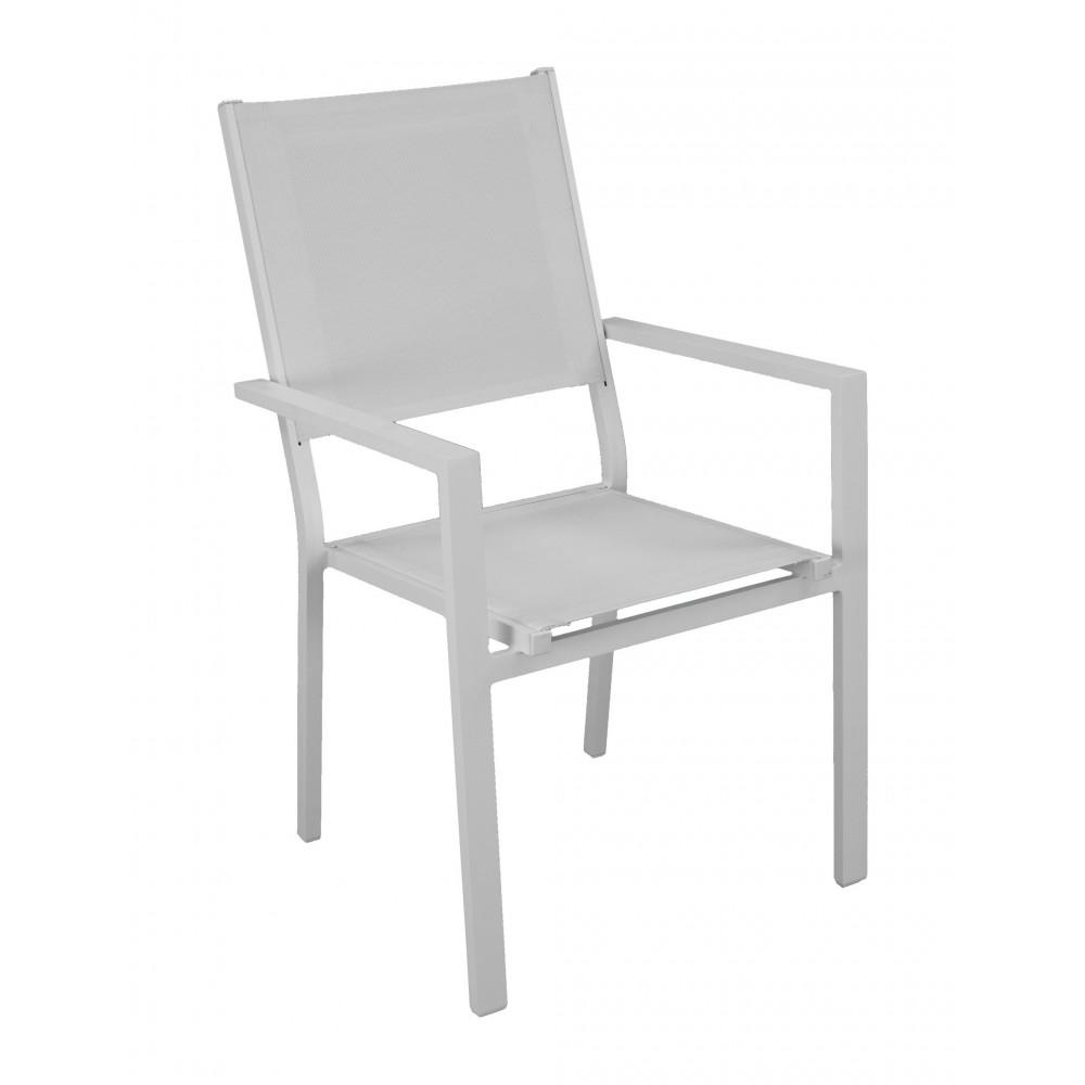 lot de 2 fauteuils de jardin aluminium rimona