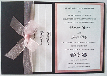 Metallic Pocket Fold Wedding Invitation