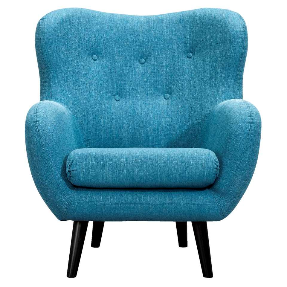 Fauteuil Viborg Tissu Turquoise