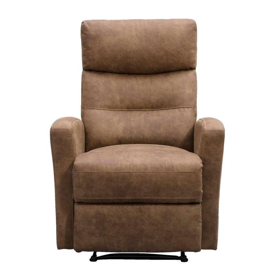 fauteuil relax jackson aspect cuir brun clair