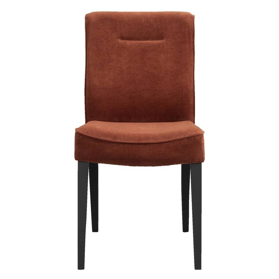chaise de salle a manger britt tissu couleur rouille
