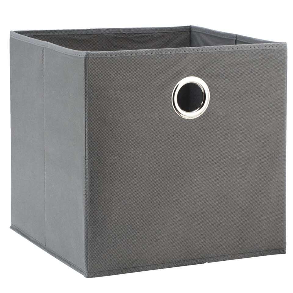boite de rangement parijs grise 31x31x31 cm