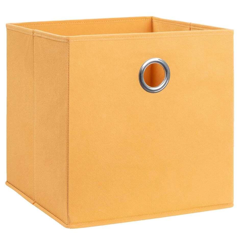 boite de rangement parijs jaune ocre 31x31x31 cm