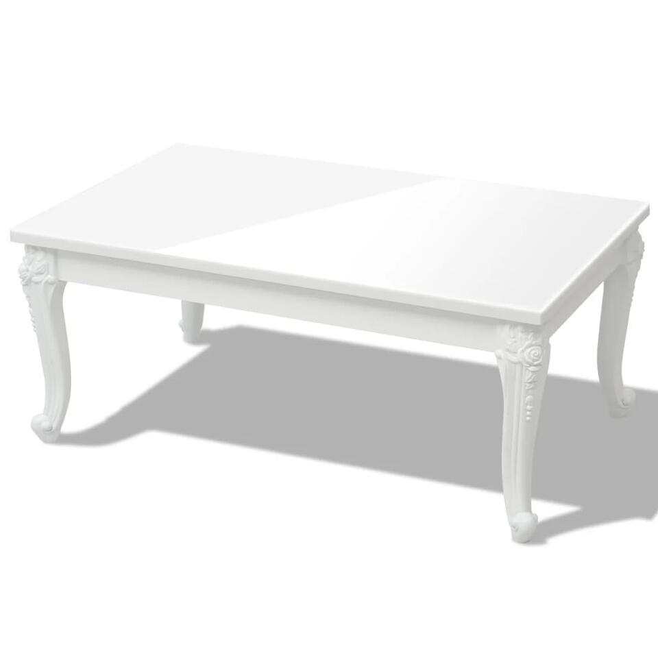 vidaxl table basse 100 x 60 x 42 cm laquee blanc