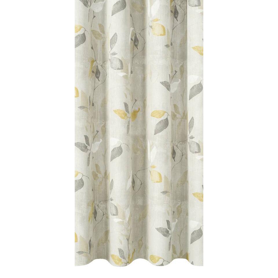 tissu pour rideaux elisee jaune