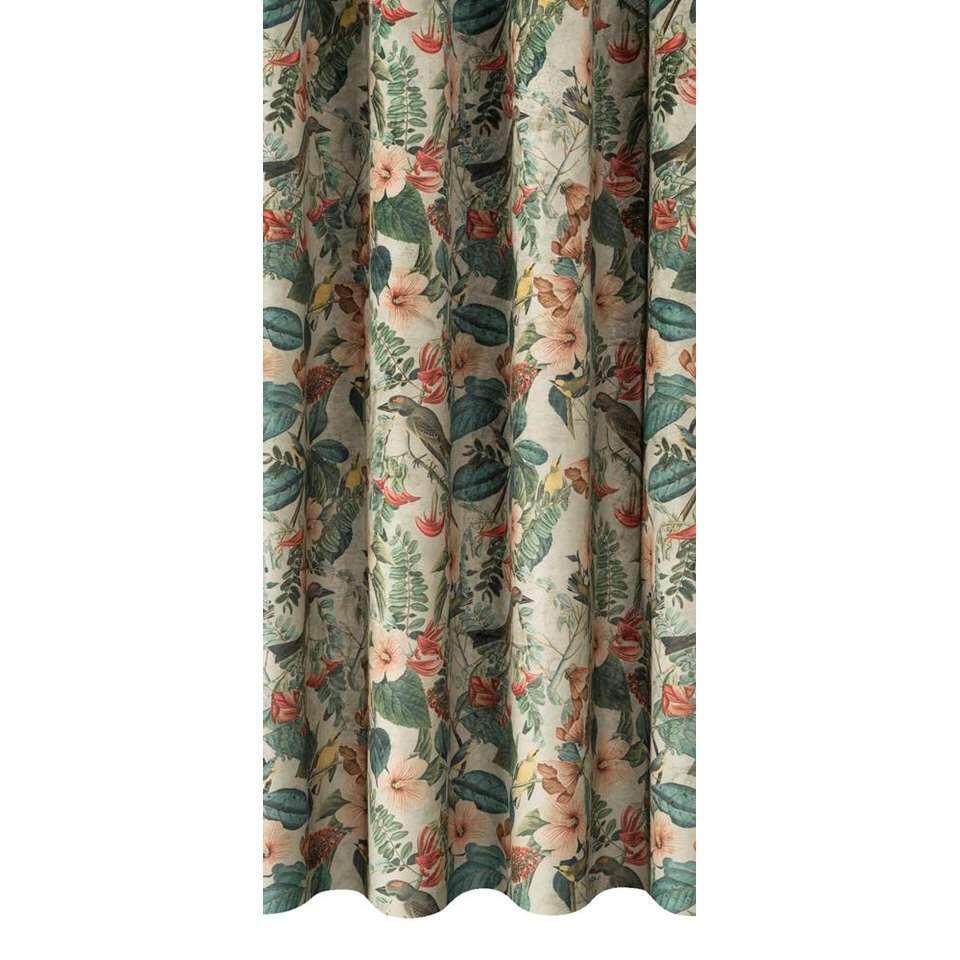 tissu pour rideaux jade multicolore