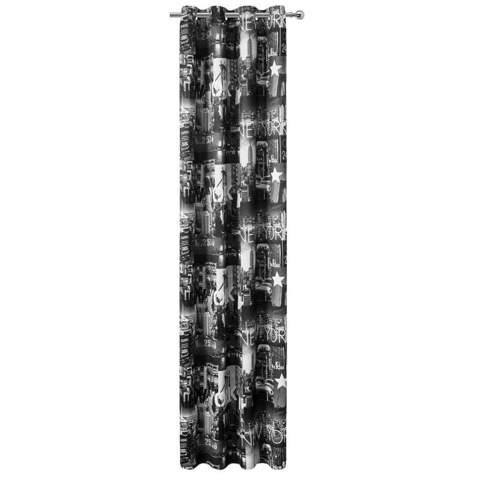 rideau new york noir blanc 280x135 cm 1 piece