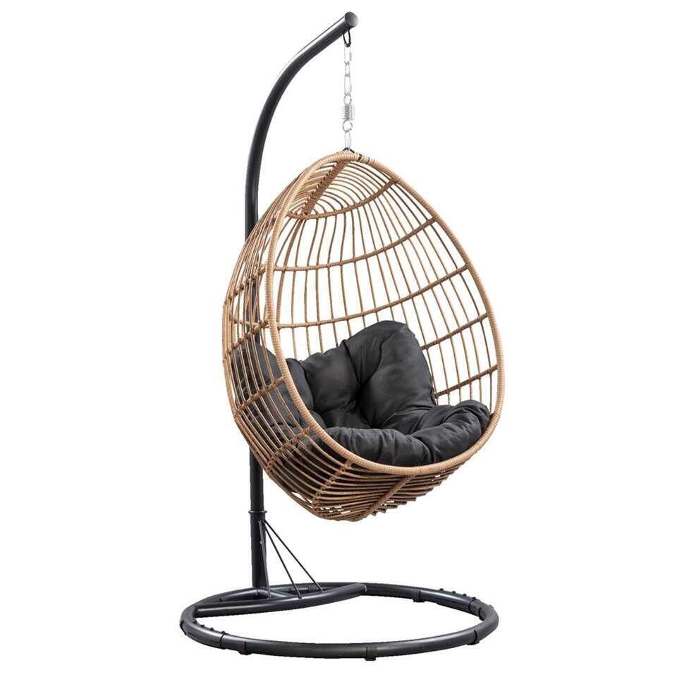 fauteuil suspendu brava pied et systeme de suspension inclus couleur naturelle 191x96x96 cm
