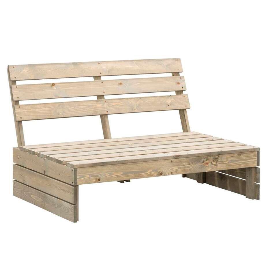 banc modulaire en bois de palette lucca gris patine 120x93 5x76 5 cm
