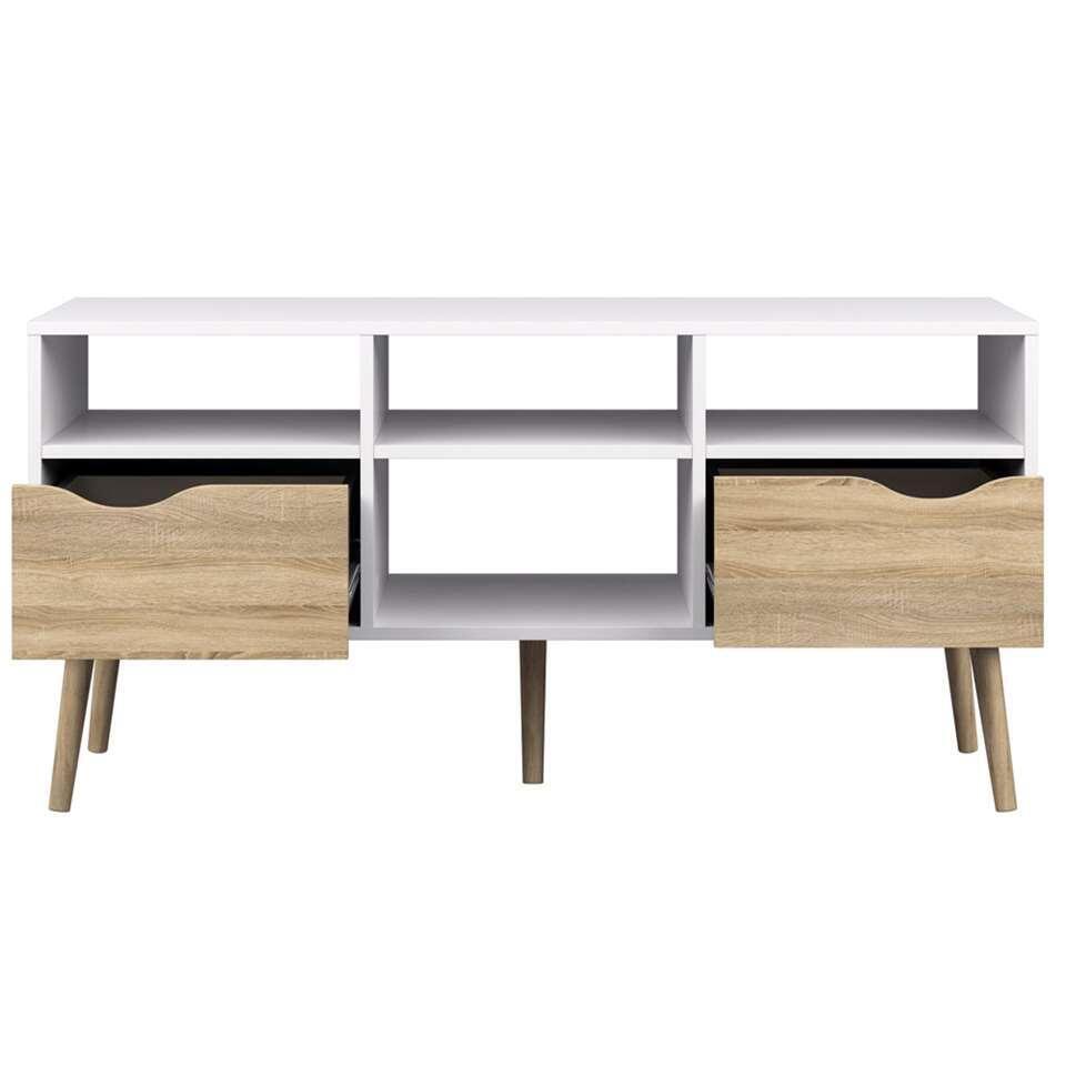 dressoir tv delta 6 casiers blanc 57 4x117 1x39 cm
