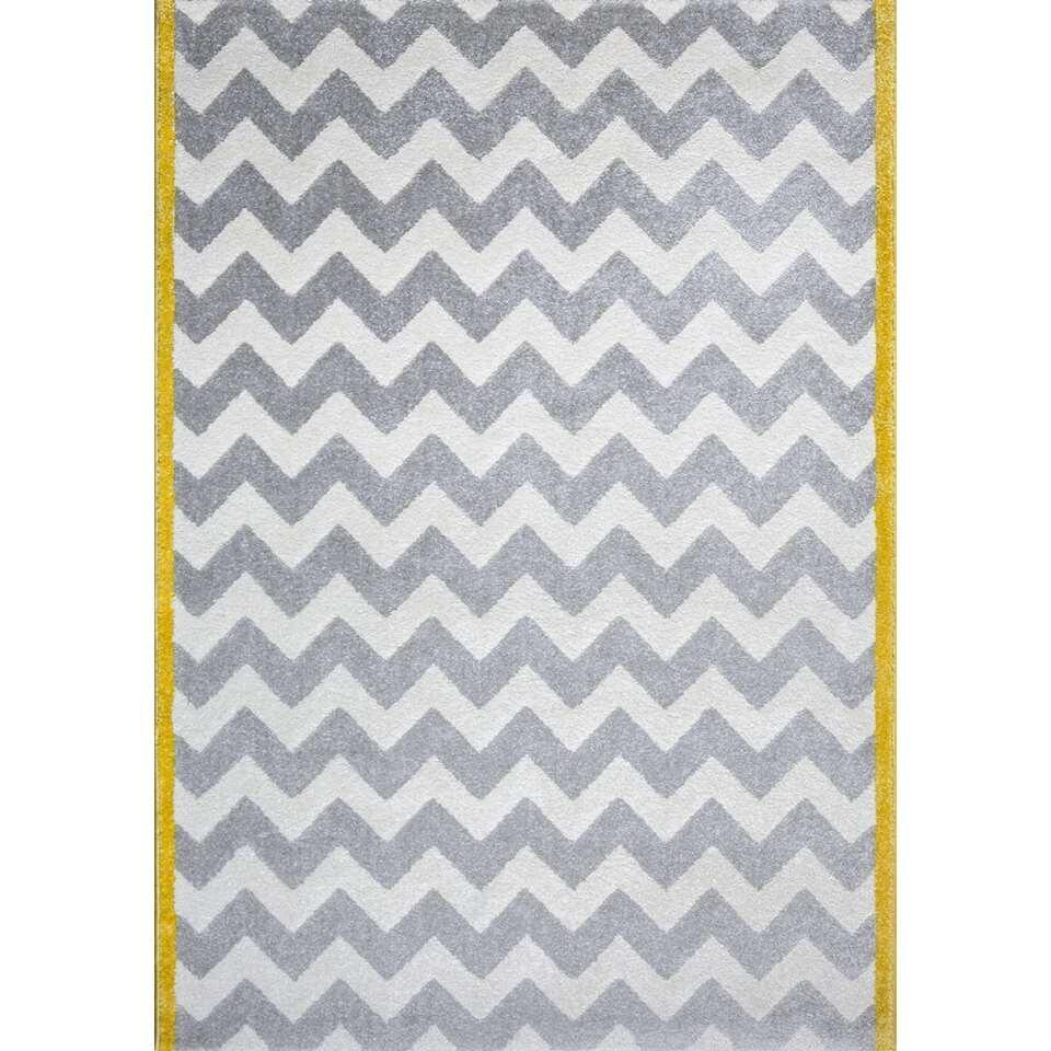 art for kids tapis design chevron jaune gris 120x170 cm