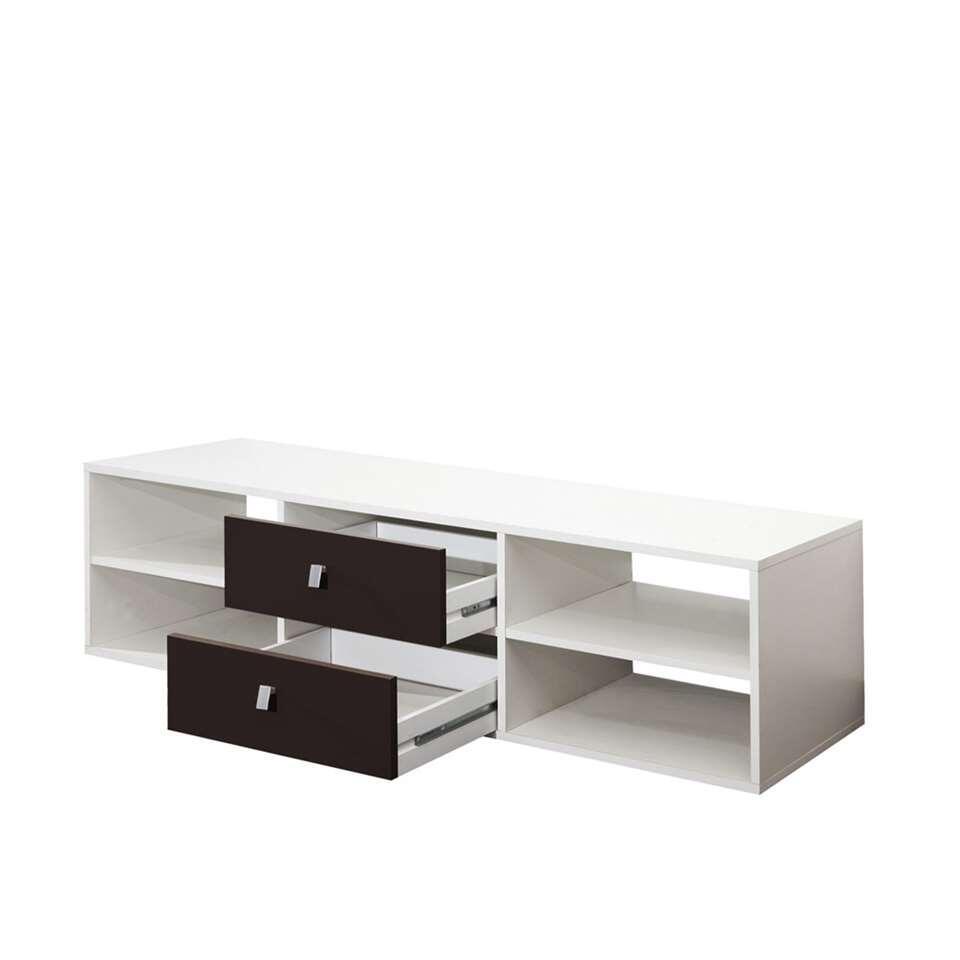 symbiosis meuble tv kviljo blanc noir 37 2x148 5x40 cm